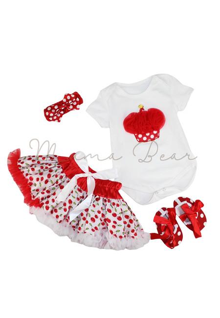Cherry and Cupcake Baby Tutu Dress Set