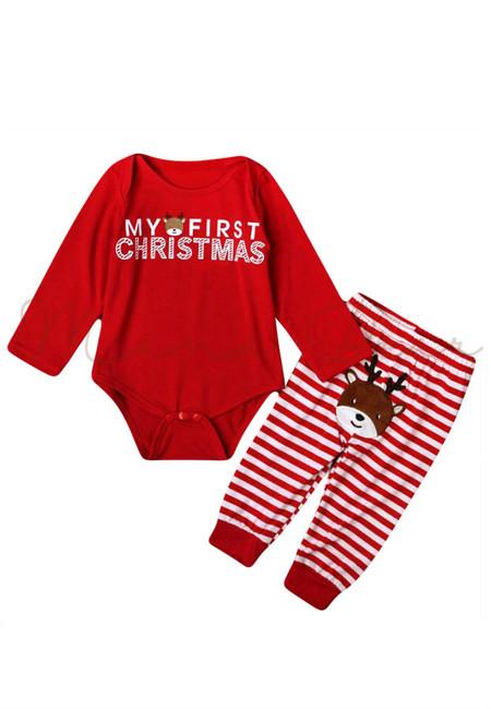 My First Christmas Bodysuit Clothing Set