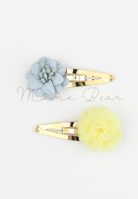Simple Flower Baby/Kids Hairclip Set