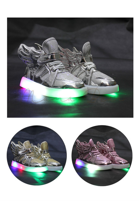 Shiny Angel Wings Baby/Kids Lighting Shoes