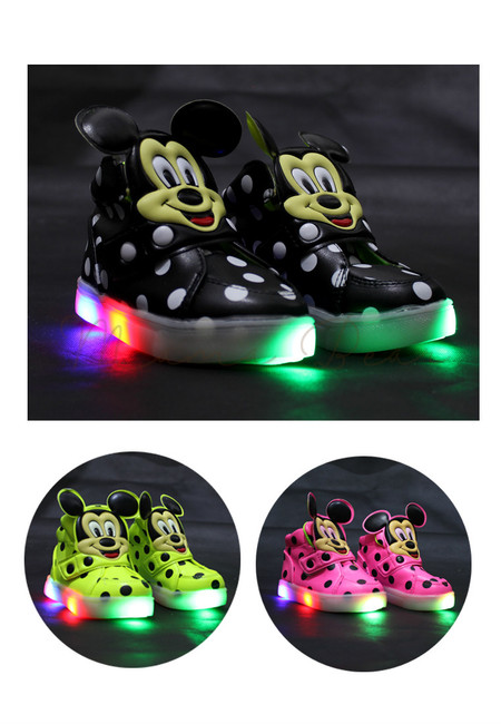 Mickey Polka Baby/Kids Lighting Shoes