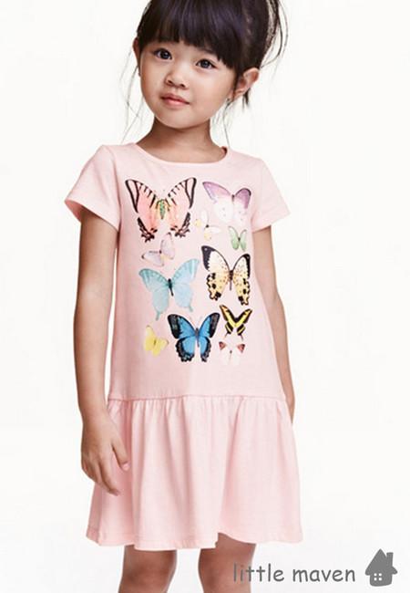 Little Maven Butterfly Print Kids Dress
