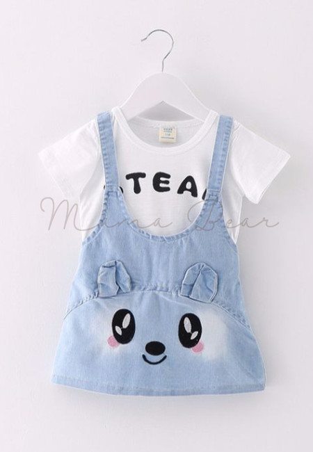 Cute Little Mouse Pattern Kids Dress