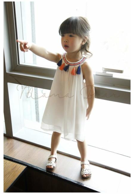 Tassel Fringe Sleeveless Dress