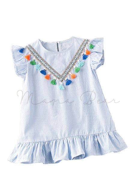 Colorful Tassel Dress
