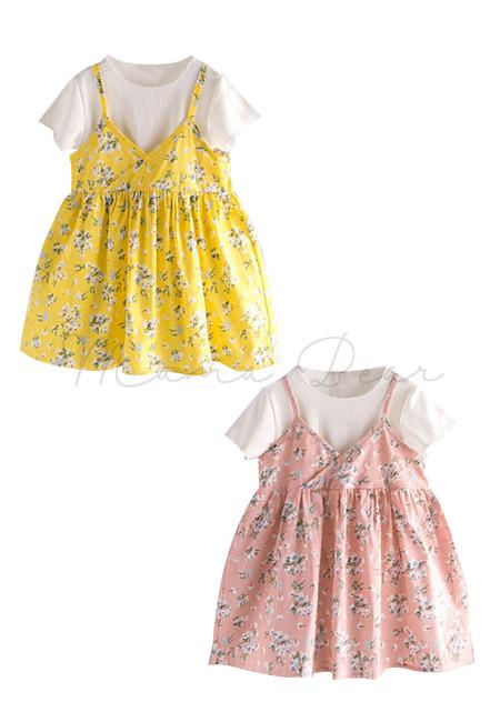 2 in 1 Spring Floral Dress
