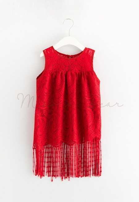 Tassel Lace Sleeveless Dress