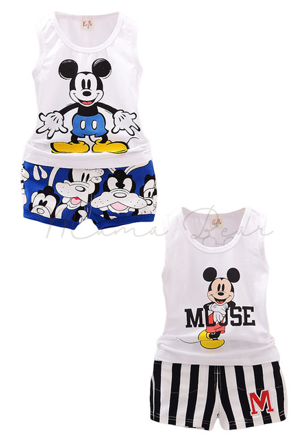 Mickey Mouse Print Top Clothing Set