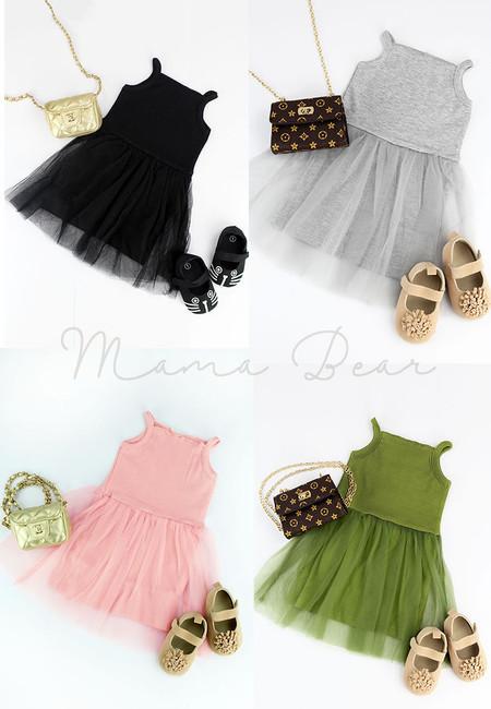 Casual Sleeveless Kids Dress