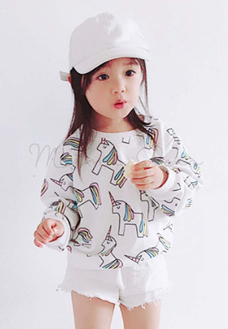 Unicorn Print Kids Sweatshirt Top