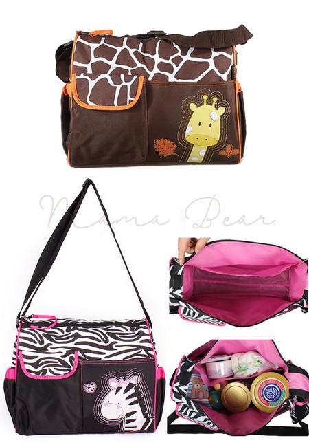 Multifunction Animal Print Nappy Diaper Bag