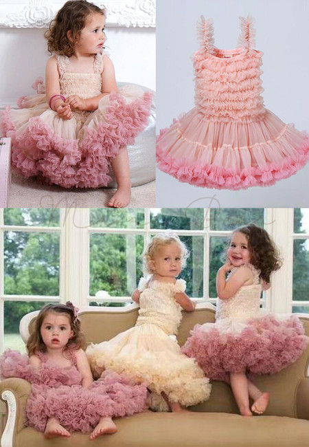 Ruffled Layer Kids Tutu Ball Gown Party Dress