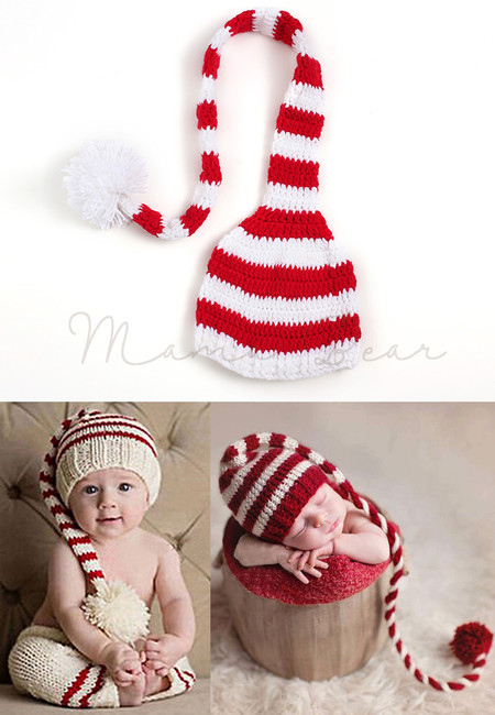 Christmas Ball Knitted Crochet Baby Hat