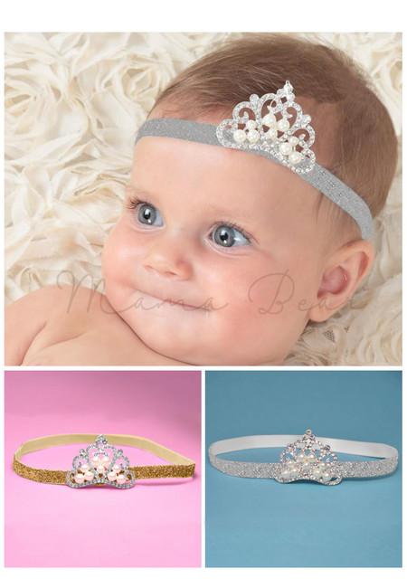 Glitter Crown Baby Headband