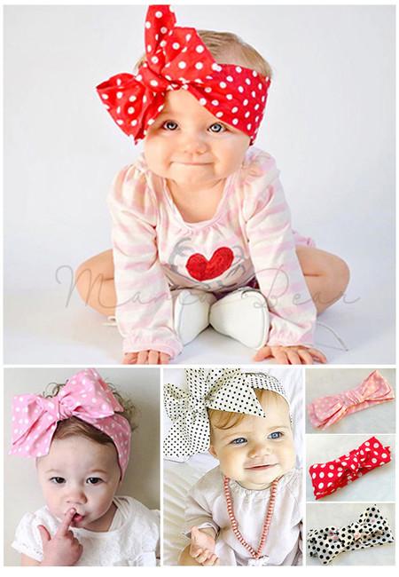 Ribbon Polka Dot Baby Headband