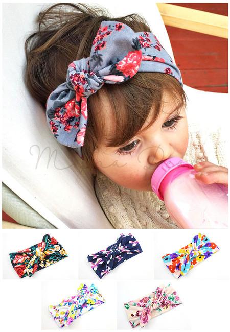 Random Floral Design Kids Headband