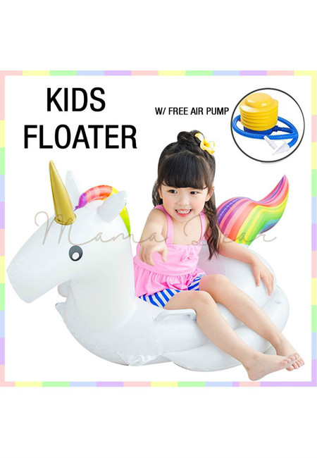 Kids Unicorn Beach and Pool Floater With Air Pump