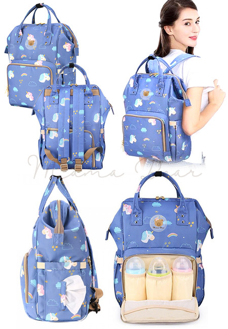 Unicorn Multifunction Nappy Bag Mommy Diaper Backpack