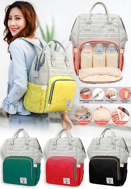 Large Diaper Mommy Bag Nappy Travel Backpack