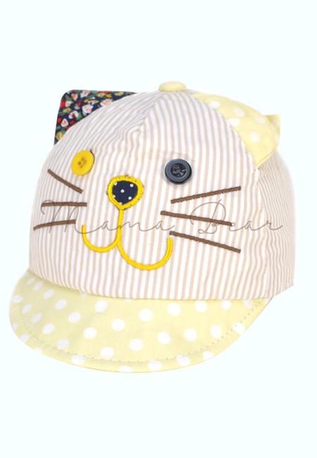 Cute Polka Kitty Cap