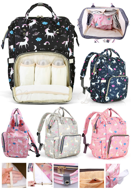Special Unicorn Edition Multifunction Nappy Bag Mommy Diaper Backpack