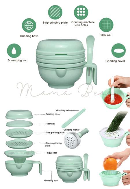 Baby Food Grinder Food Processor Grinding Manual Multi-function Baby Food Supplements Tool