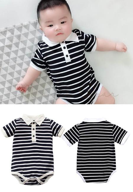 Baby Boy Stripes Onesie Bodysuit