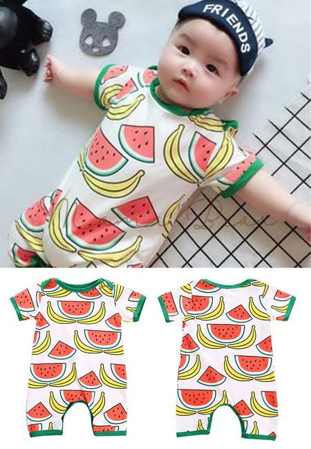 Baby Boy Cute Watermelon Onesies Bodysuit
