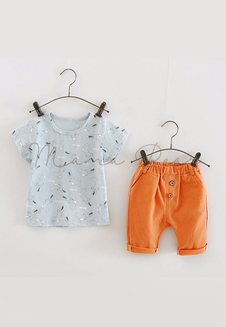 Happy Printed Socks Kids Top And Pants Set