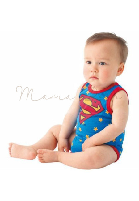Superman Print Babysuit