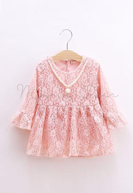 Flower Lace Bell Shaped Kids Dress