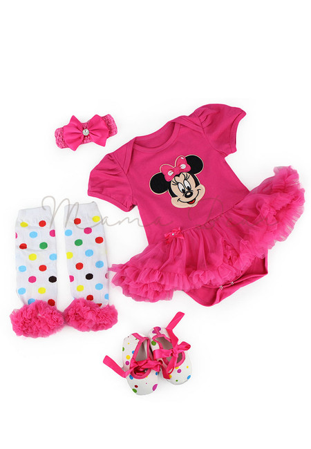 Minnie with Polka Leggings Baby Tutu Set