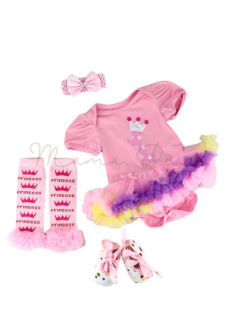 Number 1 Princess Baby Tutu Set