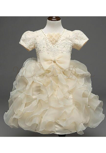 Hot Champagne Royal Princess Embellished Ball Gown