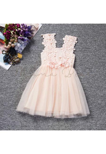 Elegant Lovely Flower Sleeveless Party Dress