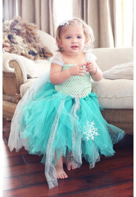 Queen Elsa Inspired Frozen Tutu Dress