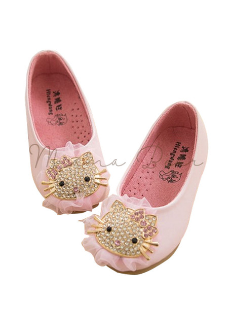 Kitty Rhinestone Doll Shoes