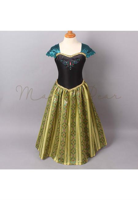 Princess Anna Puff Sleeves Kids Costume