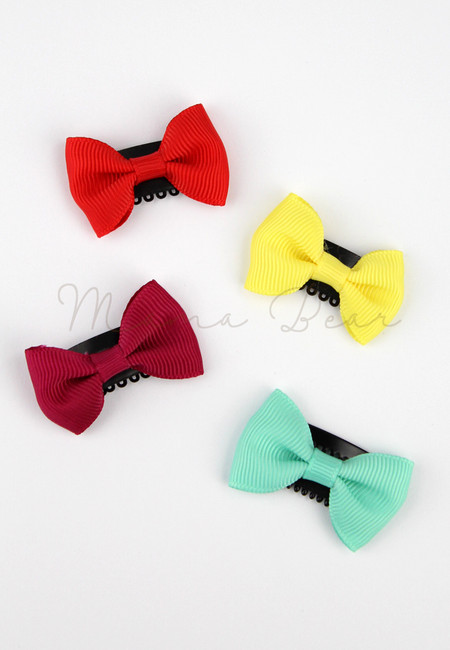 Candy Colored  Ribbon Baby/Kids Hair Clip Set