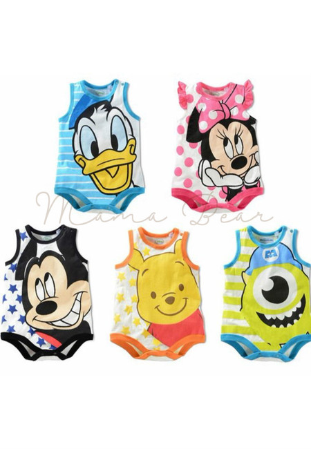 Disney Character Kids Sleeveless Bodysuit