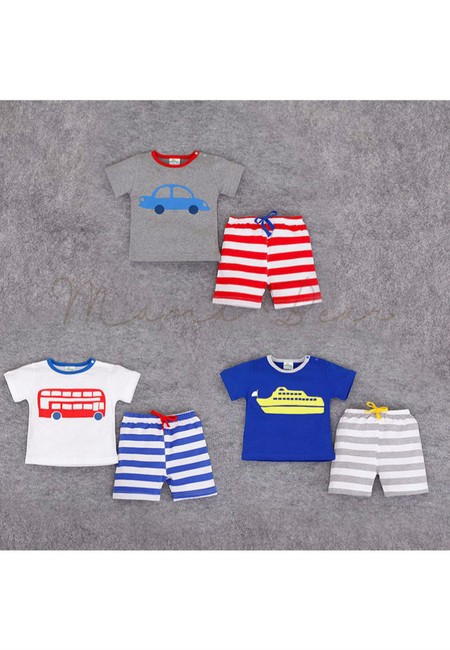 Little Vehicle Kids Clothing Set
