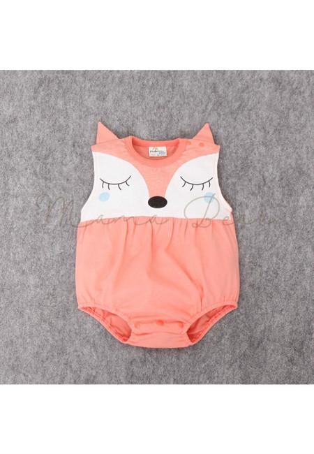 Cute Sleeping Fox Kids Bodysuit
