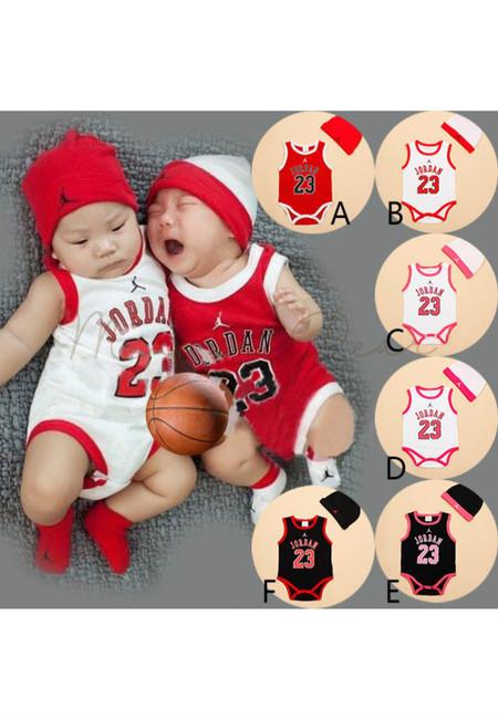Jordan 23 Sleeveless Kids Bodysuit With Hat