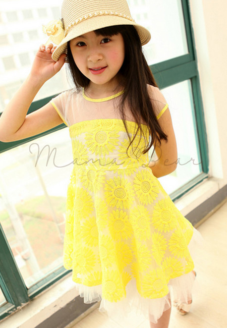 Sunny Yellow Kid Dress