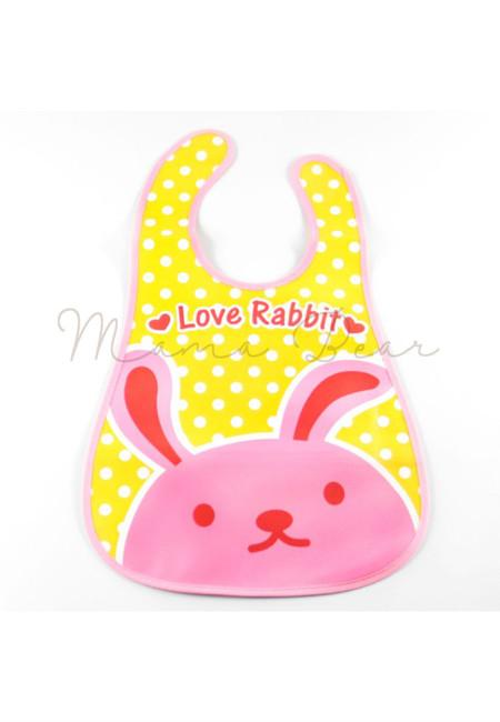 Love Rabbit Waterproof Baby Bib With Pocket