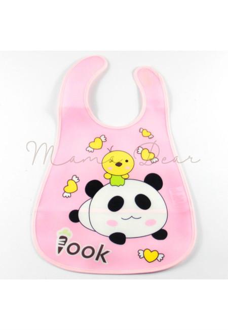 Love Panda Waterproof Baby Bib With Pocket