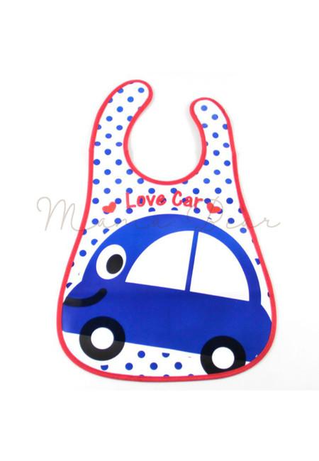 Love Car Waterproof Baby Bib With Pocket