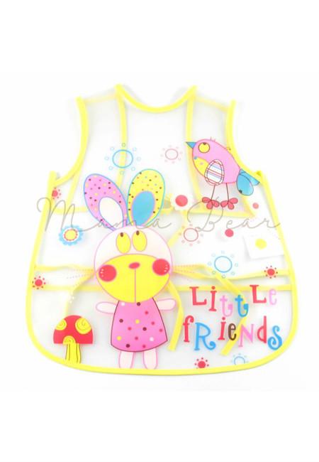 Adjustable Little Friends Waterproof Baby Bib With Pocket