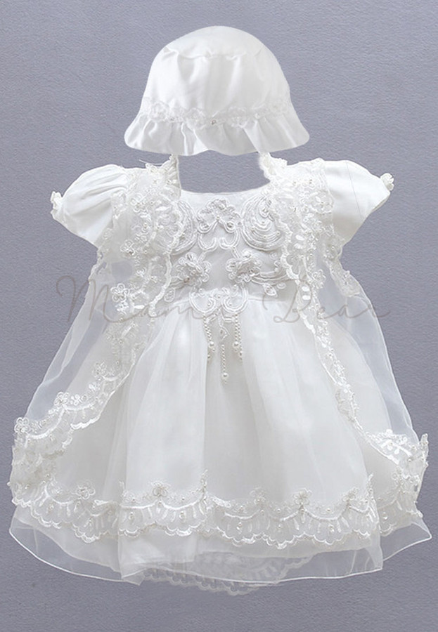 Floral Pattern Shortsleeve with Hat and Cardigan Ball Gown Party ...