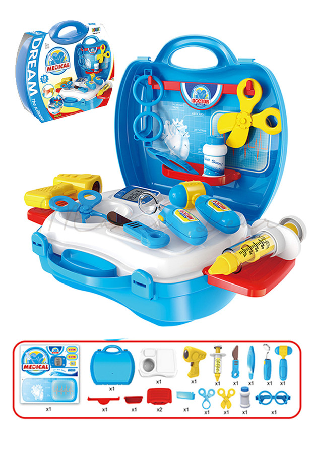 Children's Medical Set with Suitcase Toy Play Set